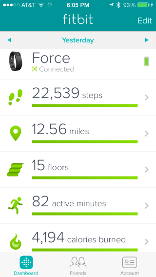 Fitbit Dashboard (iOS app)