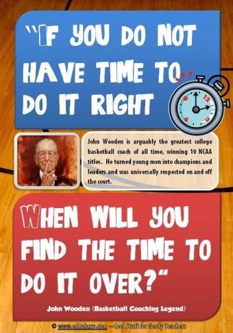 Free Student Motivation Poster from John Wooden