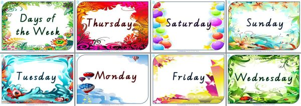 Beautiful Days of the Week Posters for your classroom — Edgalaxy ...