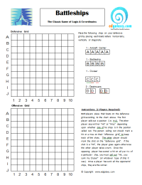 PRINTABLE BATTLESHIP GAME FOR STUDENTS — Edgalaxy: Cool Stuff for ...