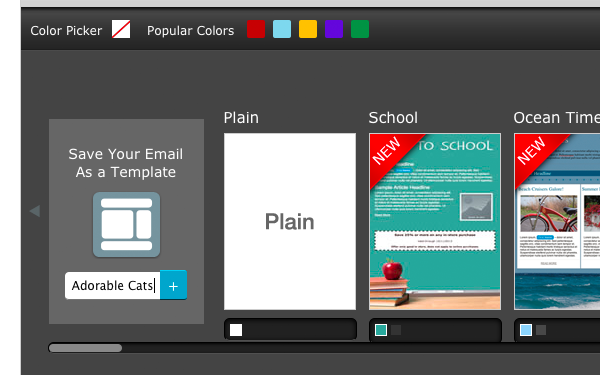 As you can see there are plenty of templates to choose from and customization is dead simple.