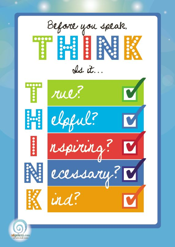 Think Before You Speak Poster Edgalaxy Cool Stuff For