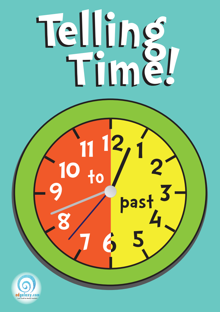 Telling Time Poster — Edgalaxy: Cool Stuff for Nerdy teachers