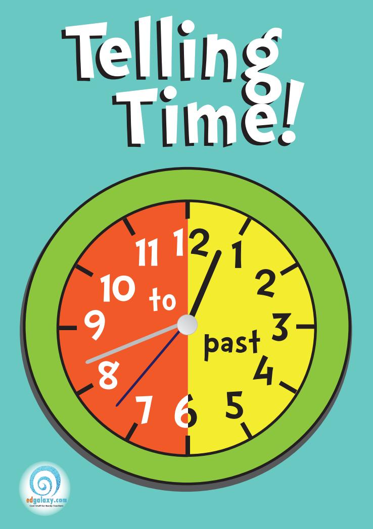 Telling Time Poster u2014 Edgalaxy: Cool Stuff for Nerdy teachers