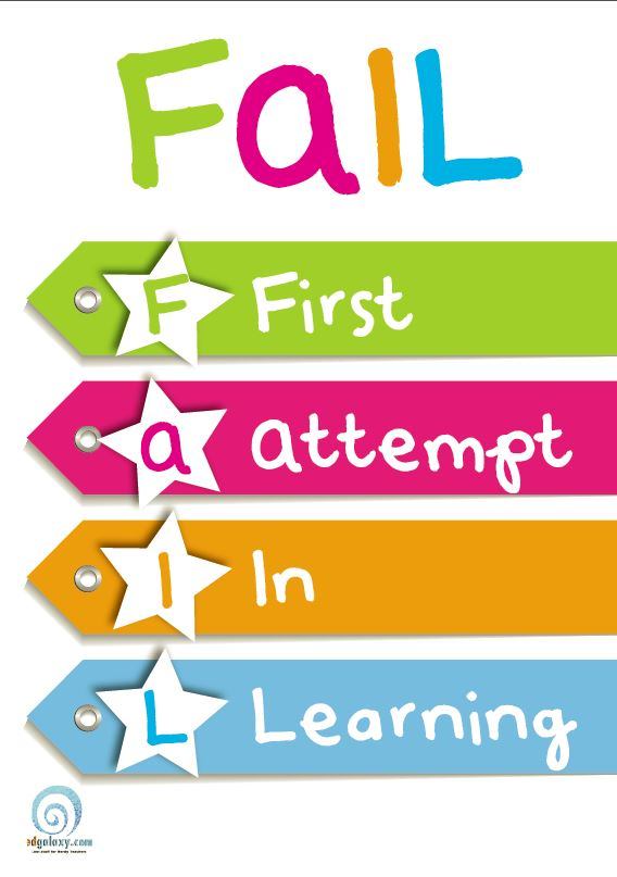 First Attempt In Learning Fail Classroom Poster Edgalaxy Cool Stuff For Nerdy Teachers
