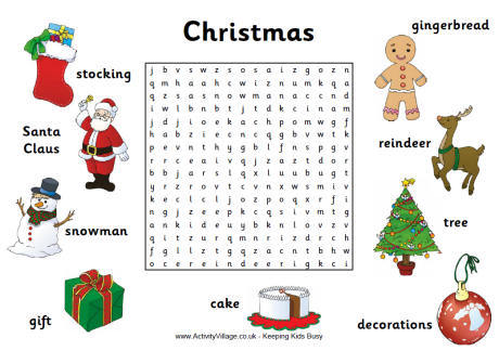 Free Christmas Wordsearches Puzzles And Crosswords Edgalaxy Teaching Ideas And Resources