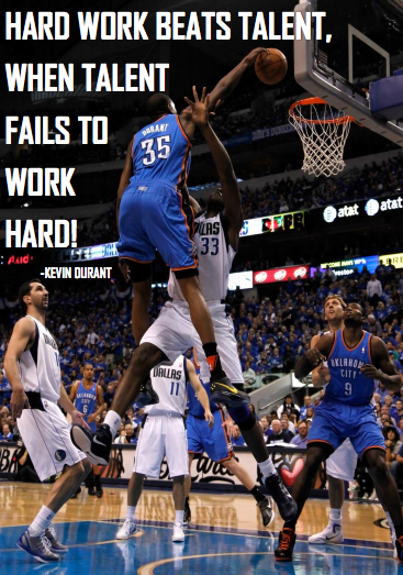 Kevin Durant Student motivation poster