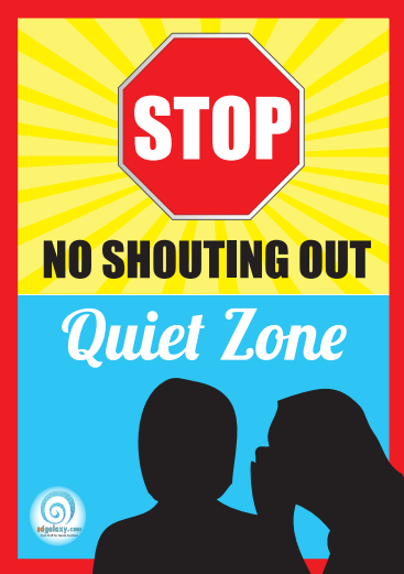 No Shouting poster