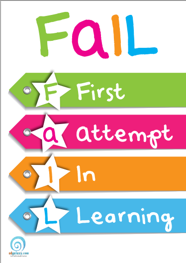FAIL:  First attempt in learning poster