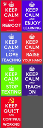 7 poster keep calm and teach poster series