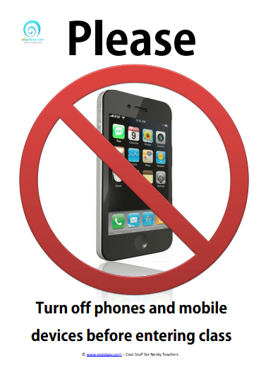 Please turn off your phone in class poster