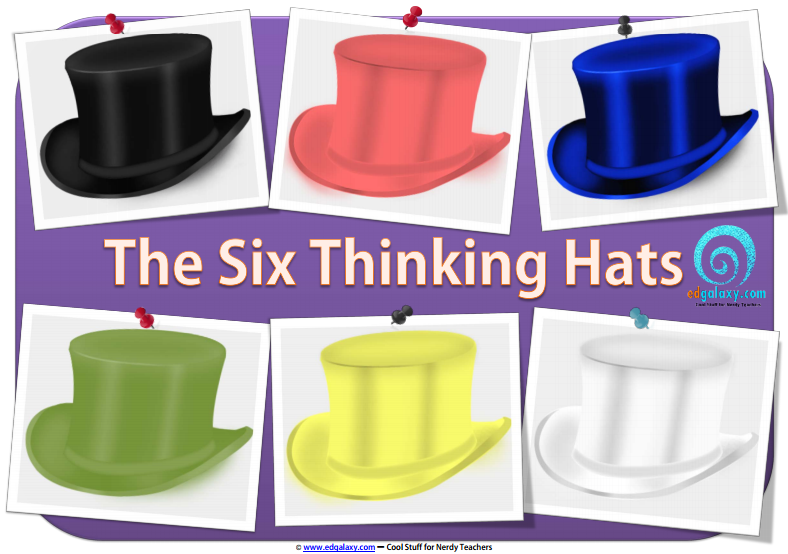7 poster series on the six thinking hats