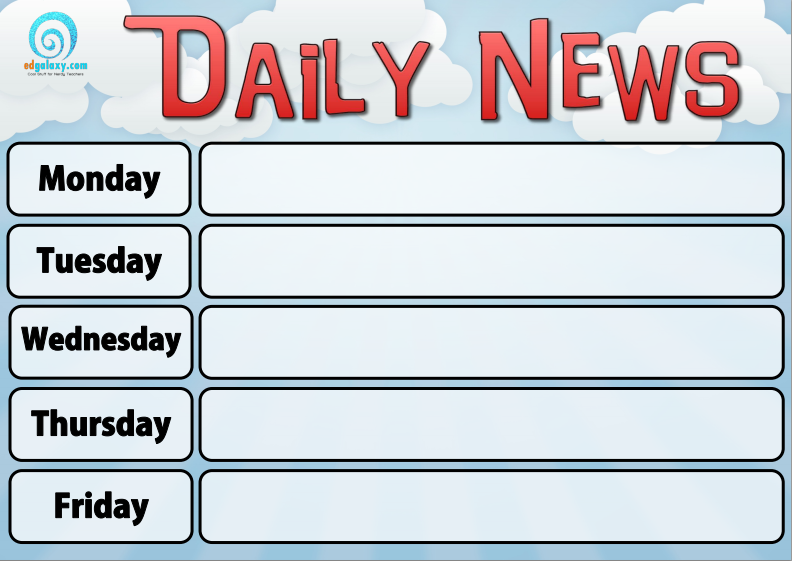 Daily news 2 poster set