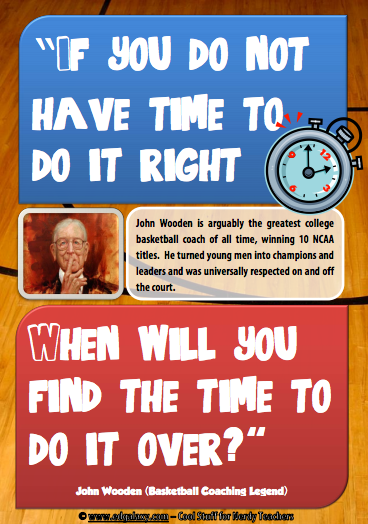 John Wooden Motivation poster
