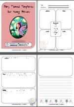 8 page fairy themed writing pack
