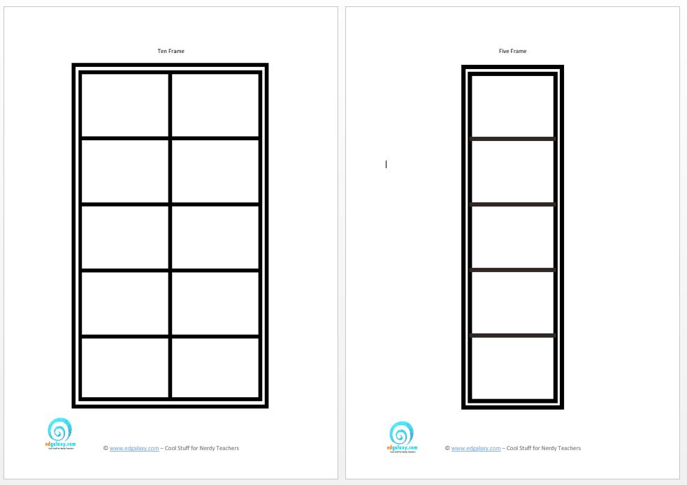 Download image Ten Frame Template Printable PC Android iPhone and 9hsoPD0f
