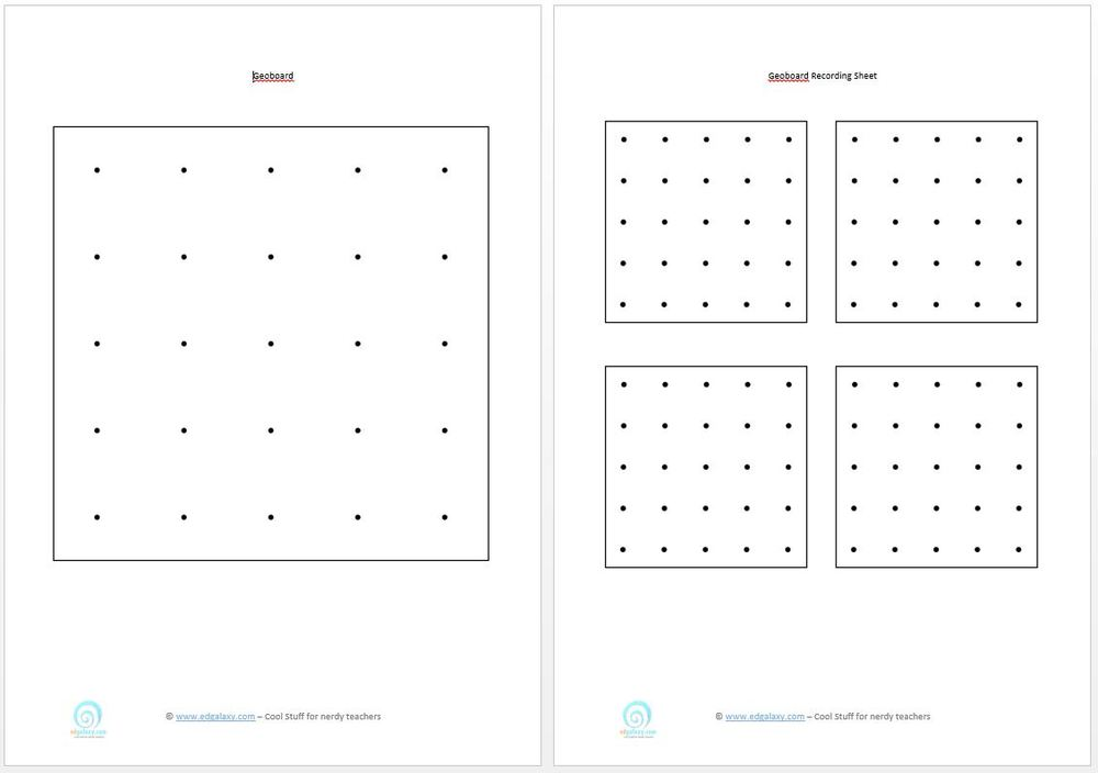 Printable geoboards edgalaxy cool stuff for nerdy teachers for Ipad grid template