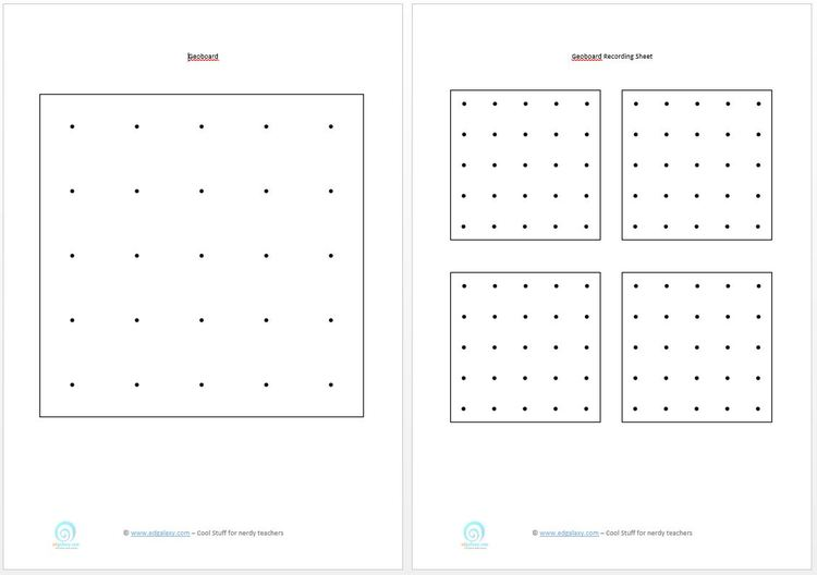 printable geoboards — Edgalaxy: Cool Stuff for Nerdy teachers