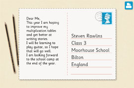 Blank Postcard Templates For Young Writers