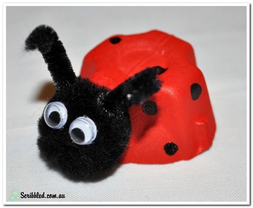 Make Your Own Egg Carton Ladybug Edgalaxy Cool Stuff