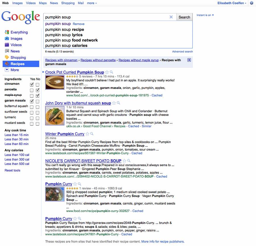 google_recipe serach
