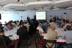 ABOVE: Global GAP training on Sept. 30, 2015 for farmers in Lushnje, Albania