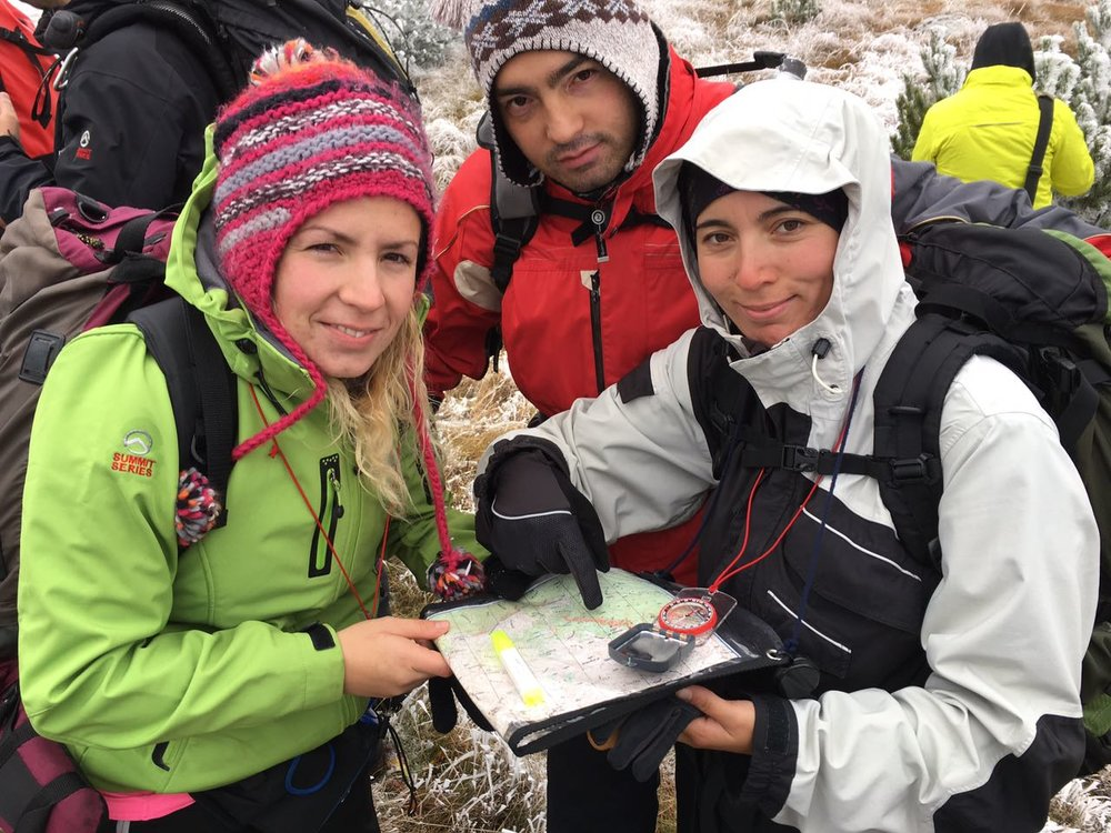 Participants involved in a practical orienteering exercise (Photo credit: Dan Moore/ Jean-Claude Razel)