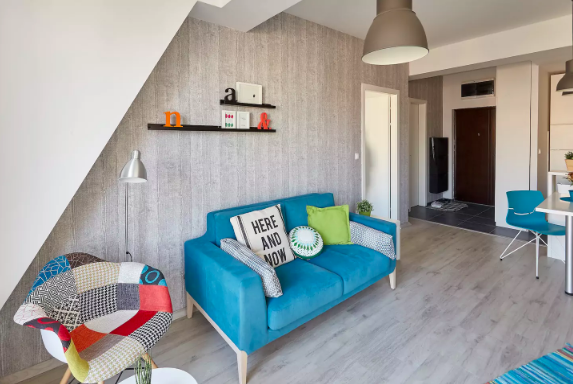 "This cheery  one-bedroom apartment  is in the center of town close to the city park and cafes. The open floor plan has living and dining areas as well as a stocked kitchen. Past guests says host Biljana is friendly and responsive, and a great guide to the city. Hagen says it's ""probably one of the coolest Airbnbs I've ever stayed in."""
