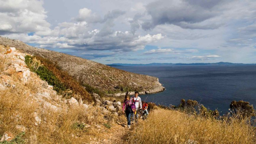 Hiking in the hills across Croatia. Photo: Will Salter/ Getty Images