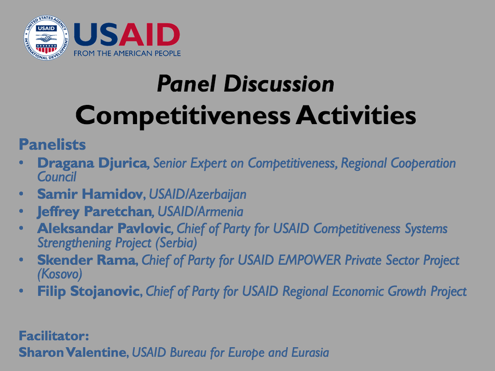 Competitiveness Panel