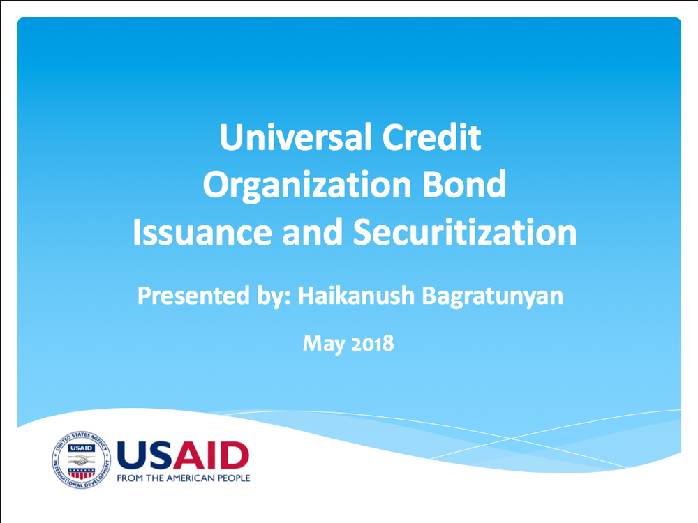 Universal Credit Organization Bond Issuance and Securitization