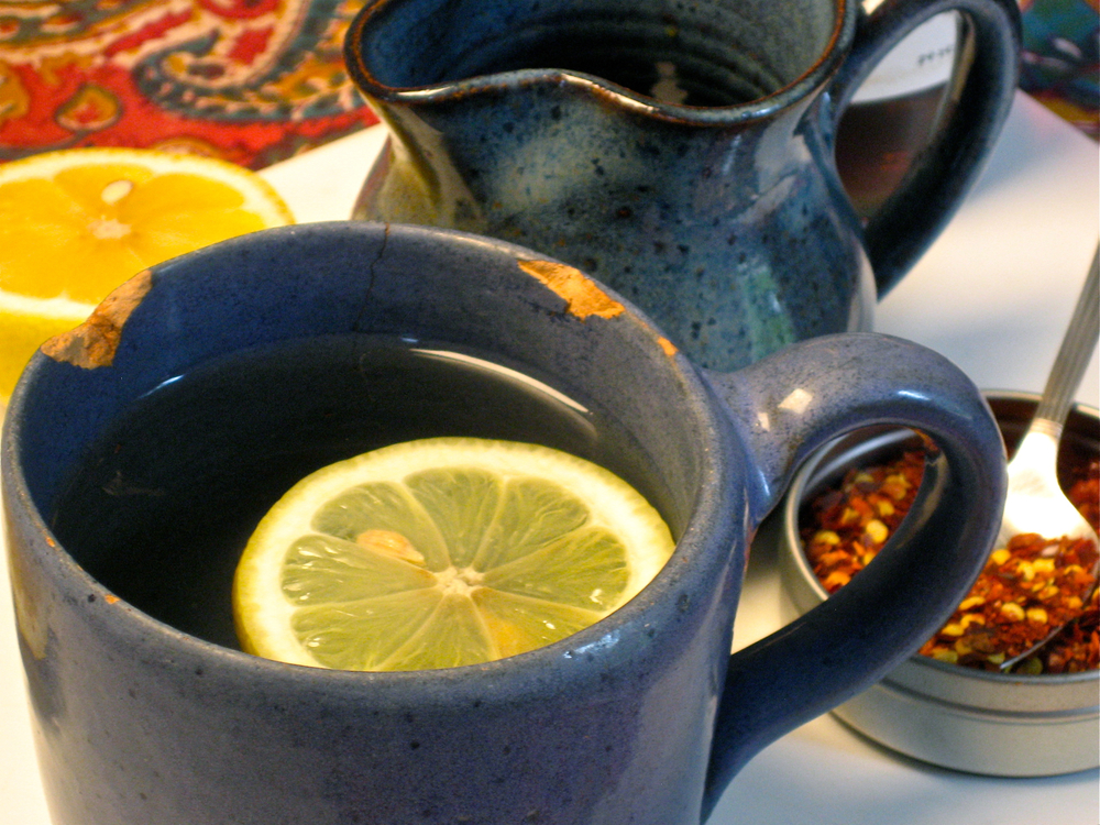 A  tisane  of hot lemonade, sweetened with sorghum and fired with red peppers: an old cold remedy (sometimes aided by a bit of rum or Bourbon) that may turn trendy again in 2013