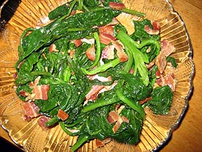 Wayne County Poke Greens, Stonecross Farm Bacon