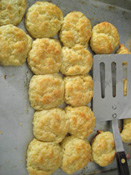 Biscuits made with frozen, grated butter