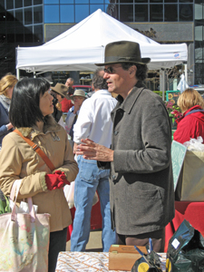 Mark Newberry, CaffeMarco, at the Saturday Lexington Farmers Market