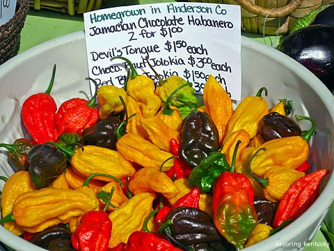 Cleary Hill Farm exotic hot peppers from Anderson County, KY