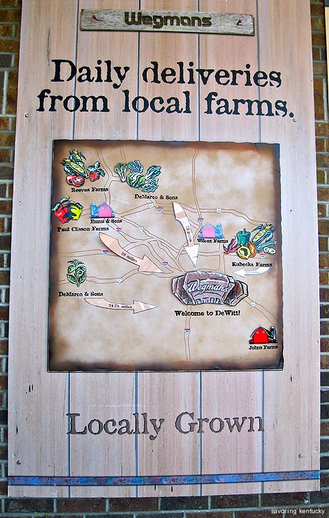 Wegmans Syracuse map of local farms supplying fresh produce