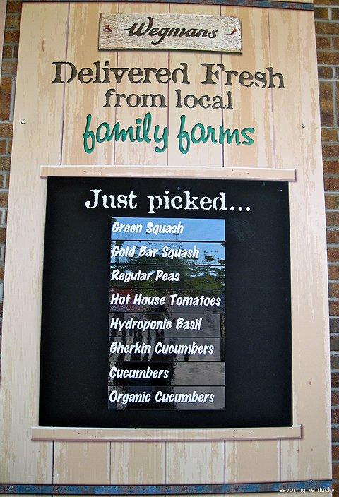 Wegmans Syracuse farm produce list