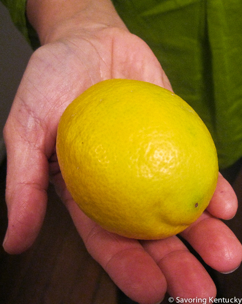 A gift of Meyer Lemon from a loving neighbor