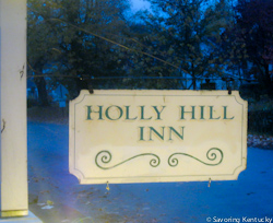 Holly Hill Inn sign, Midway, Kentucky