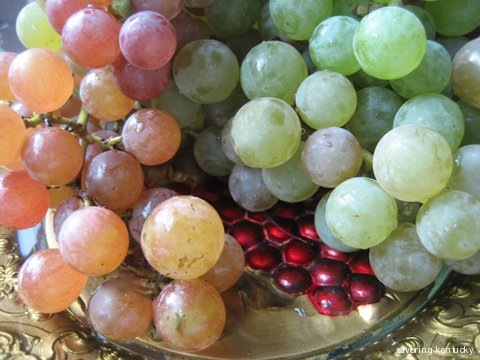 Boyd Orchard (Kentucky) Champagne Grapes on My Grandmother's Grape Plate