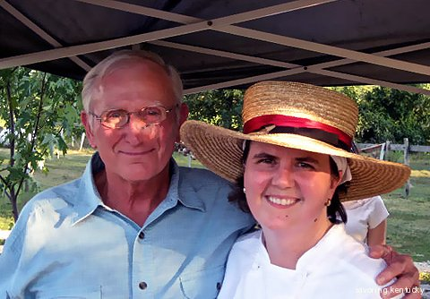Jim Nance and Holly Hill Inn owner and chef Ouita Michel at Happy Jack Pumpkin Farm
