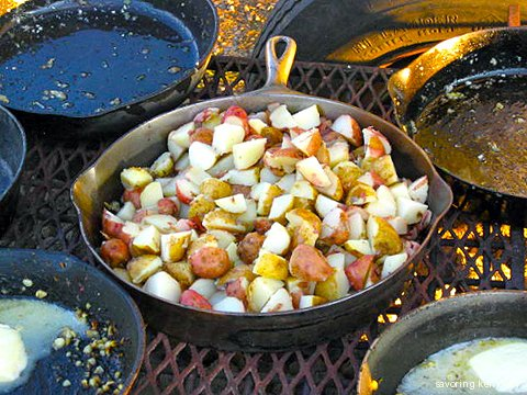 Jim Nance's Heritage Cast Iron Skillets in Daily Use