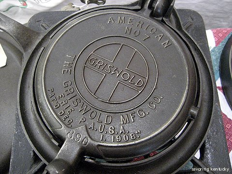 Heritage Cast Iron waffle iron from Jim Nance's collection