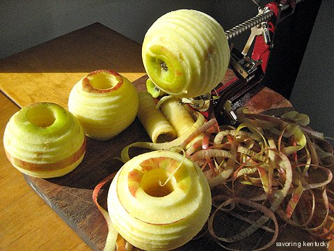 Apple peeler for making dried apples