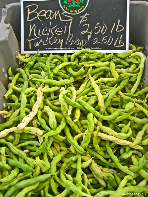 Heirloom green beans from Best Farm, Madison County, Kentucky