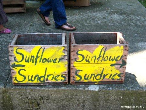 Sunflower Sundries boxes, Kentucky