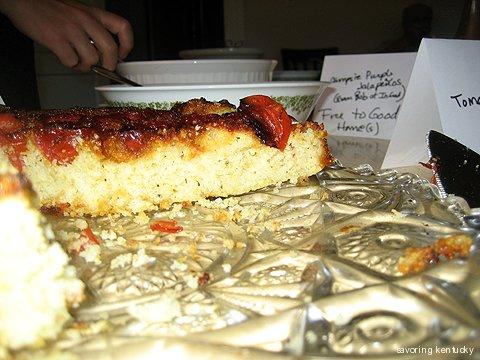 Cornmeal Tomato Tarte Tatin