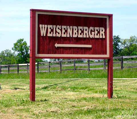 Weisenberger Mill Sign