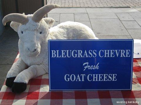 Bleugrass Chevre's table at the Lexington (Kentucky) Farmers Market, September 18, 2010